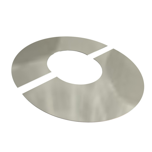 """7"""" Decorative 2 Part Oval Finishing Plate 30 Degrees Stainless Steel Twin Wall"""