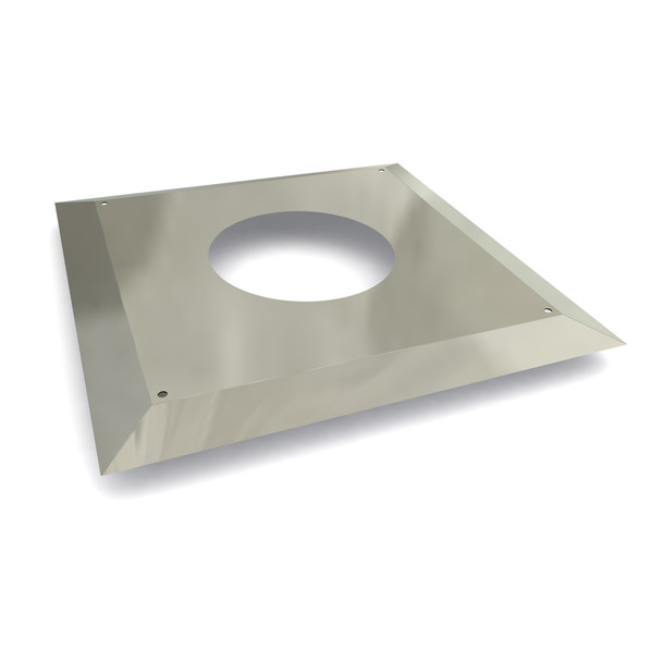 """6"""" Fire-stop Masking Plate Stainless Steel Twin Wall"""