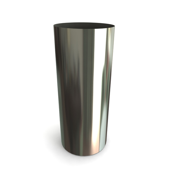 """6"""" 0 Degrees Wall Sleeve Stainless Steel Twin Wall"""