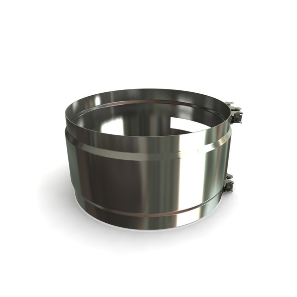 """7"""" Structural Locking Band Stainless Steel Twin Wall"""
