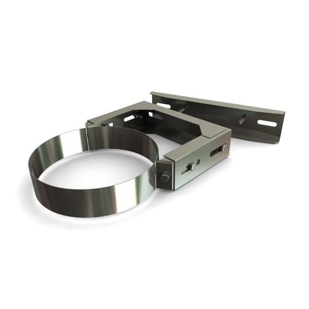 "5"" 130 - 210 mm Adjustable Wall Bracket Stainless Steel Twin Wall"