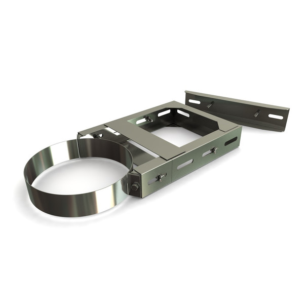 "6"" 370 - 590 mm Adjustable Wall Bracket Stainless Steel Twin Wall"
