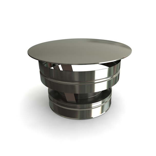 """7"""" Weathering Cap Stainless Steel Twin Wall"""