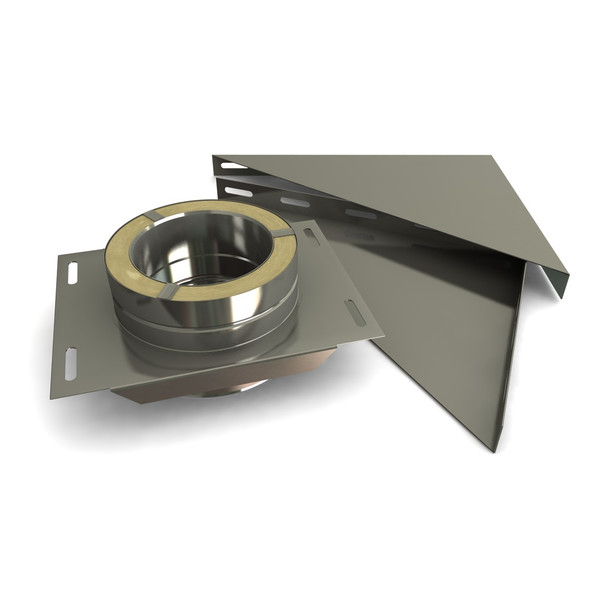 """6"""" Base Support Set Stainless Steel Twin Wall"""