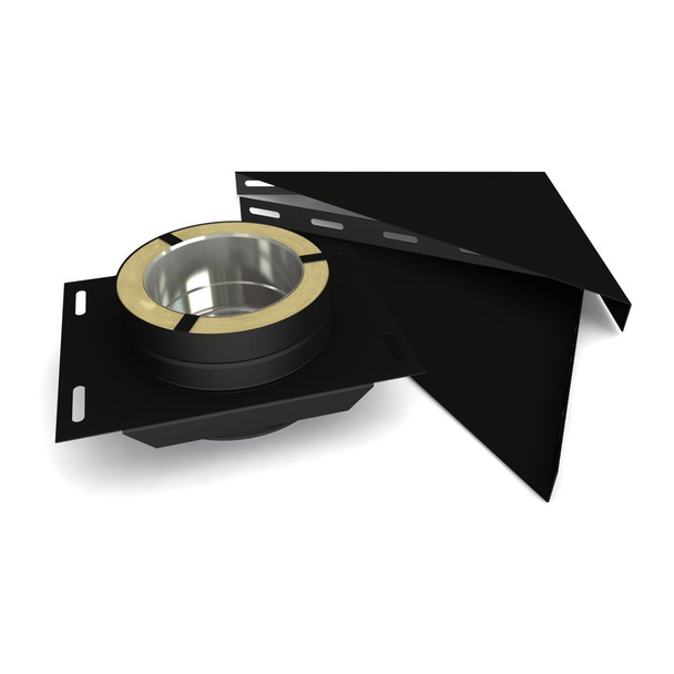 """7"""" Base Support Set Black Twin Wall"""