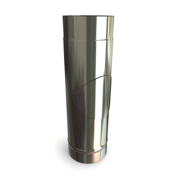 """6"""" Stainless Steel Stove Flue Pipe With Door L500"""