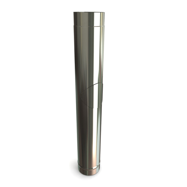 """5"""" Stainless Steel Stove Flue Pipe With Door L1000"""
