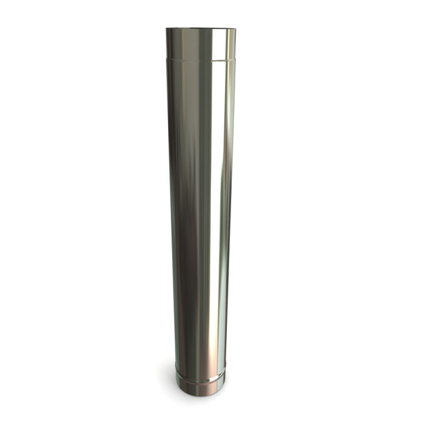 """5"""" Stainless Steel Stove Flue Pipe L1000"""