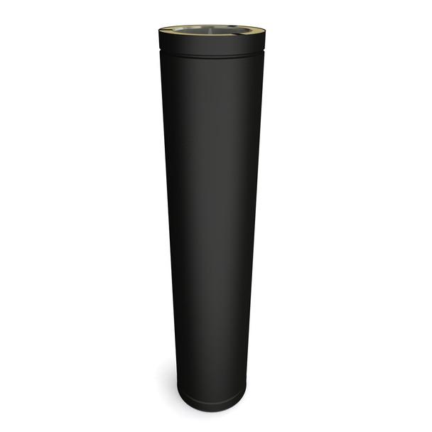 "6"" 800 mm Black Twin Wall Flue Length"