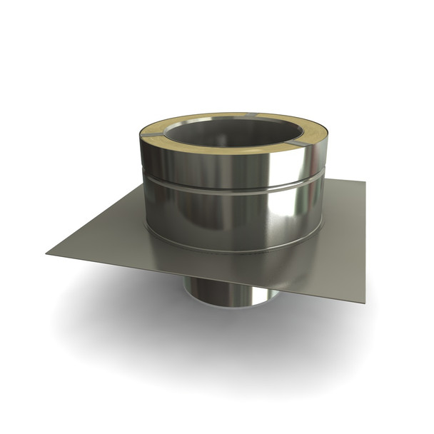 """7"""" Stainless Steel Flue Liner To Twin Wall Flue Adapter"""
