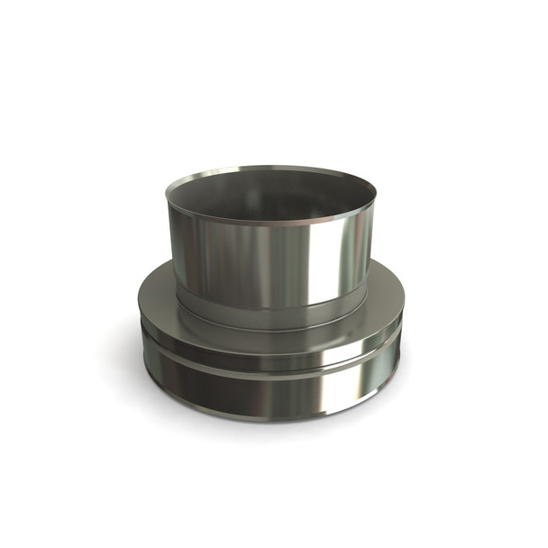 """7"""" Stainless Steel Twin Wall Flue To Flue Liner Adapter"""