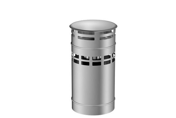 Stainless Steel Gas Fire Vertical Terminal Cap 130-200mm