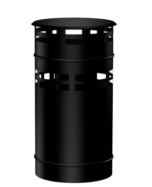 Matt Black Gas Fire Vertical Terminal Cap 100-150mm