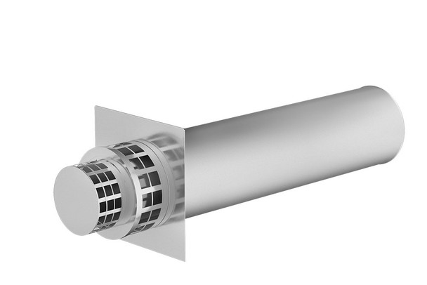 Stainless Steel Gas Fire Horizontal Terminal 100-150mm