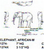 """African Elephant Standing 7"""" Long"""