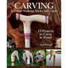 Carving Creative Walking Sticks and Canes showing images of some of the designs you can carve.