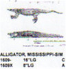 "Carving pattern for an alligator that is 16"" long."