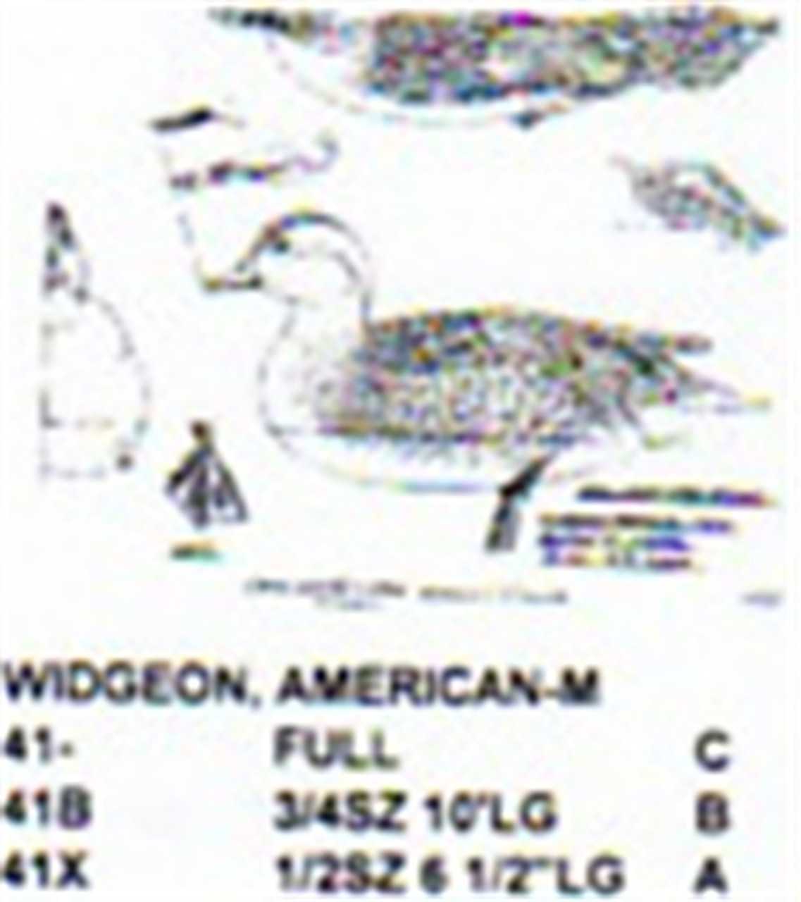 American Widgeon Resting On Water Carving Pattern sowing the Stiller Pattern.
