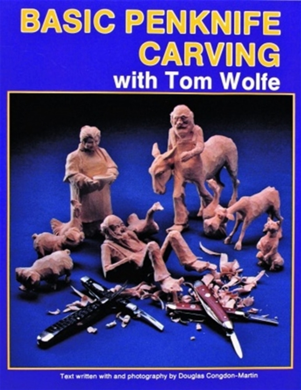 Basic Penknife Carving with Tom Wolfe showing the penknife caricatures you can carve.
