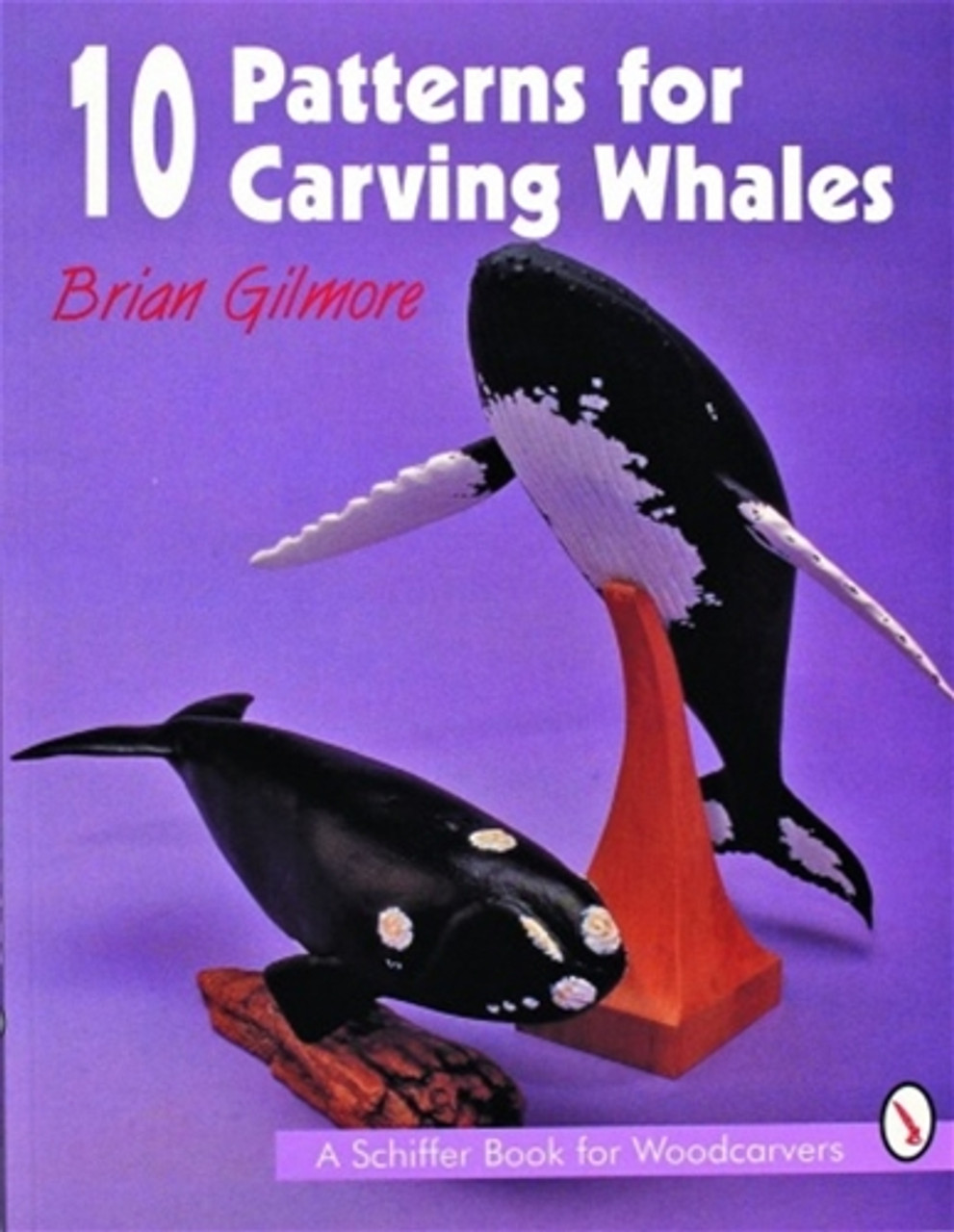 10 Patterns for Carving Whales showing a whale carving.