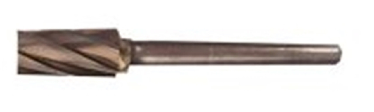 "Carbide 3/8"" Flat End Cylinder Burr shown from side profile."
