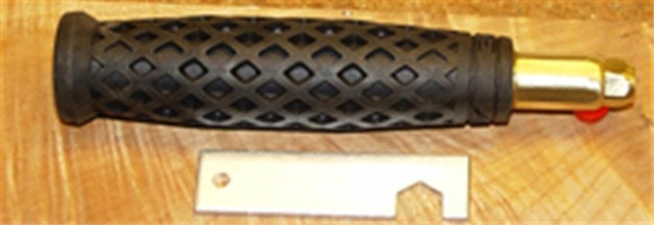 """Warren 6"""" Rubber Soft Grip Handle holds chisels, plus small and large blades."""