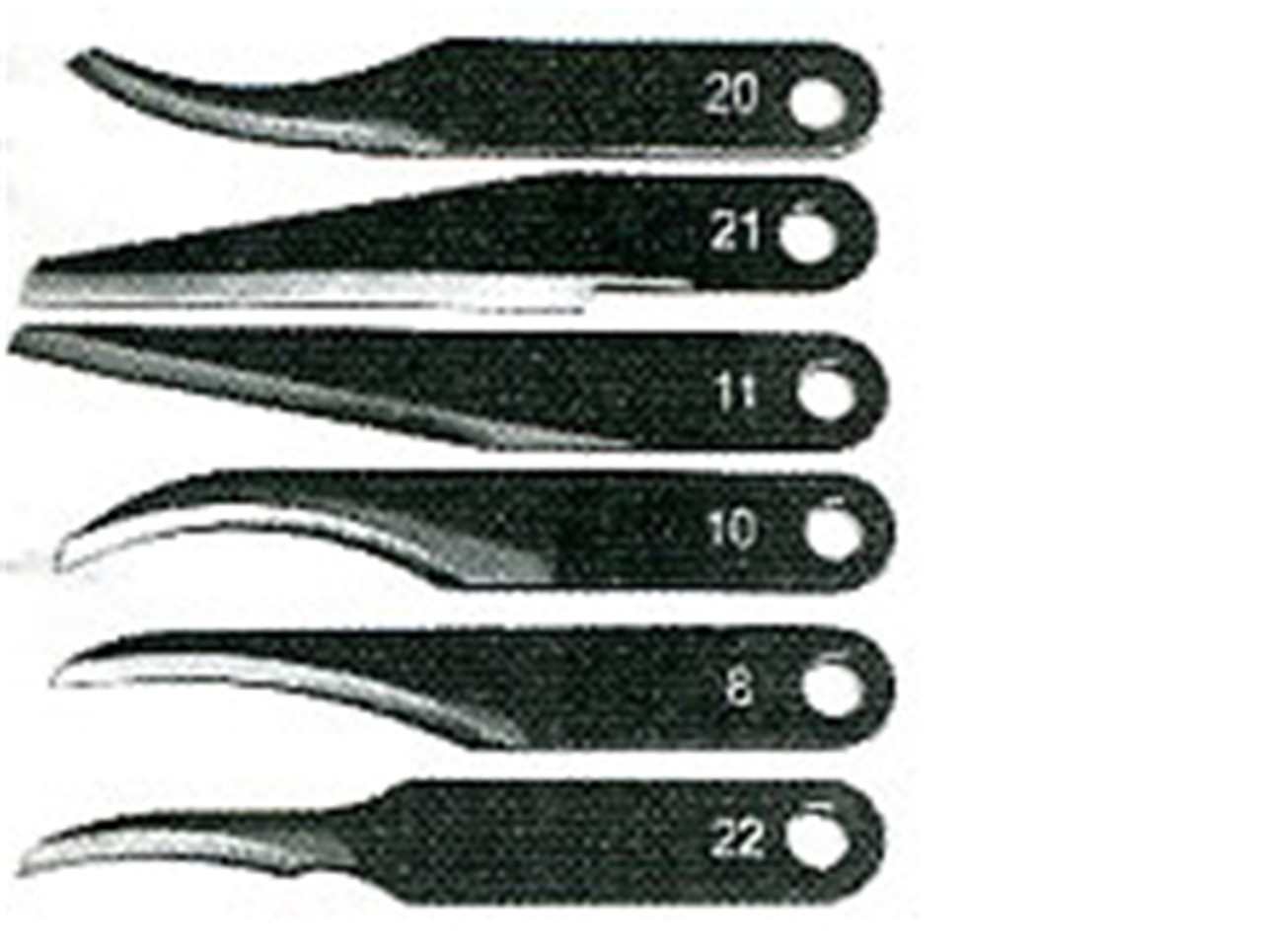 Warren Replacement Blade Assortment is a 6pk High carbon tool steel double tempered and hardened to Rockwell 60 C scale.