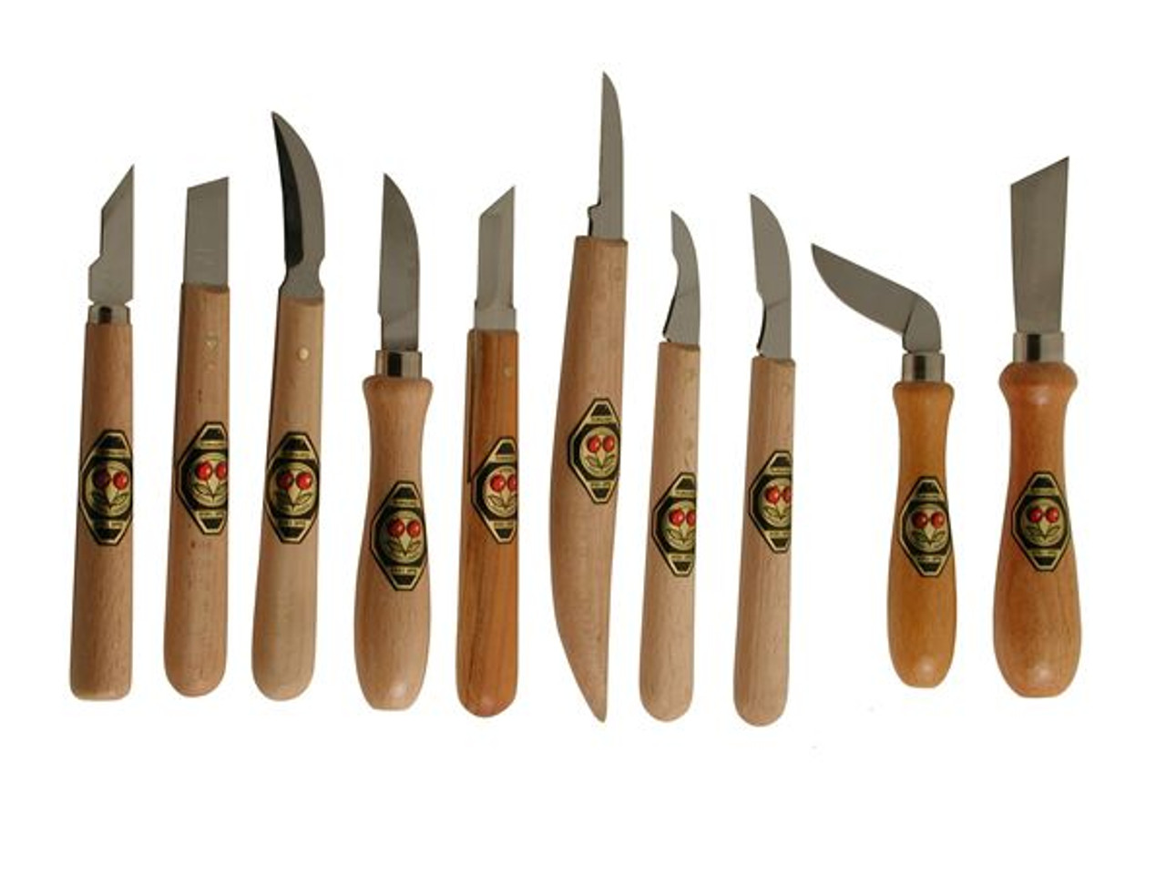 Two Cherries Set of 10 Chip Carving Knives