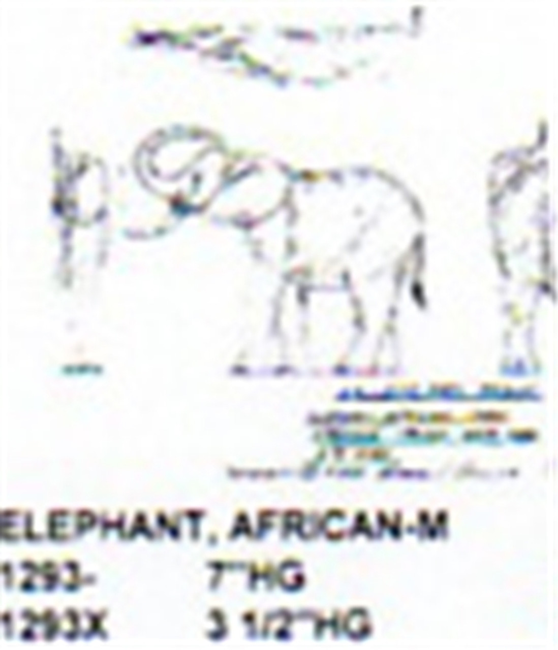 """African Elephant Standing-Trunk Over Head 7"""" High"""