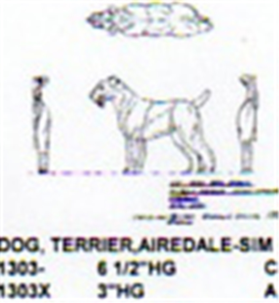 "Airedale Terrier Standing 3"" High"