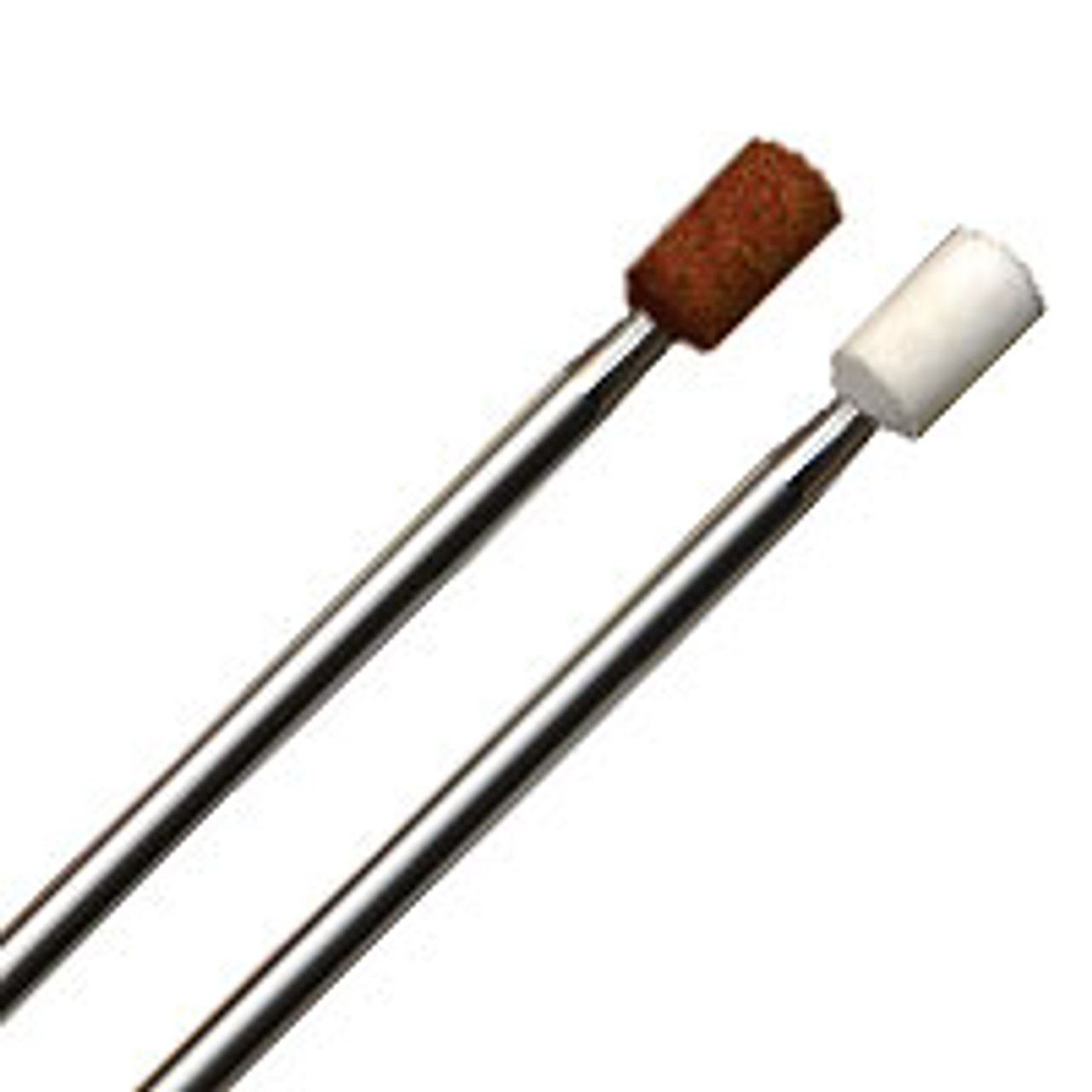 Aluminum Oxide Point Cylinder (Red) Coarse grit. and (White) Fine grit.