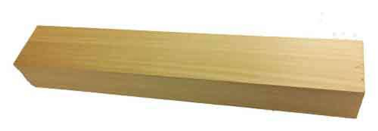 "Basswood 2"" thick carving blank."