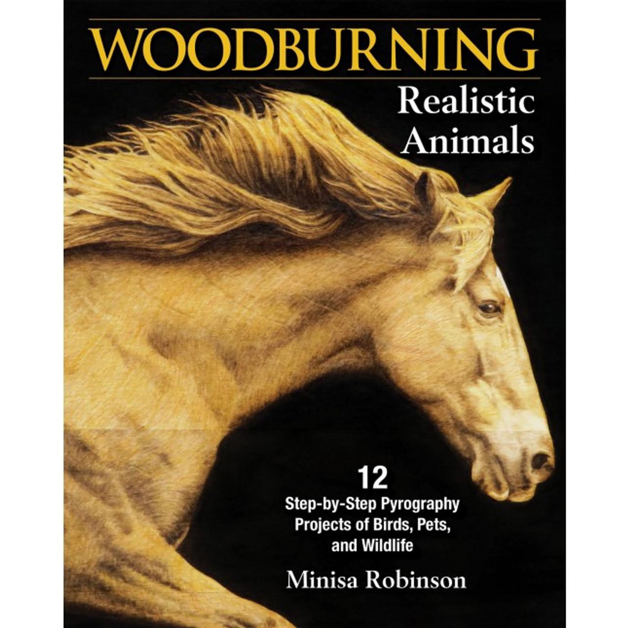 Woodburning Realistic Animals showing an amazing horse portrait burned onto wood.