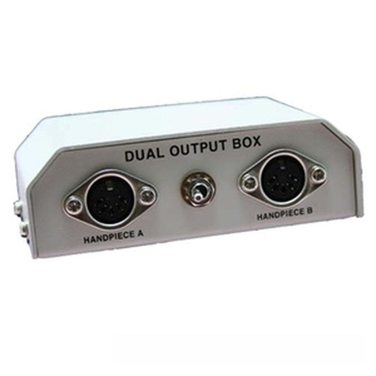 Front view of the Ram dual control box showing the two inputs and switch to flip from one unit to the other.