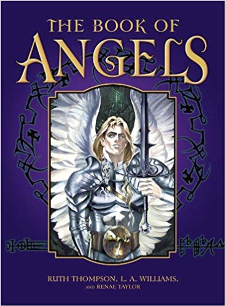 The Book of Angels showing the cover of this book with a male angel.