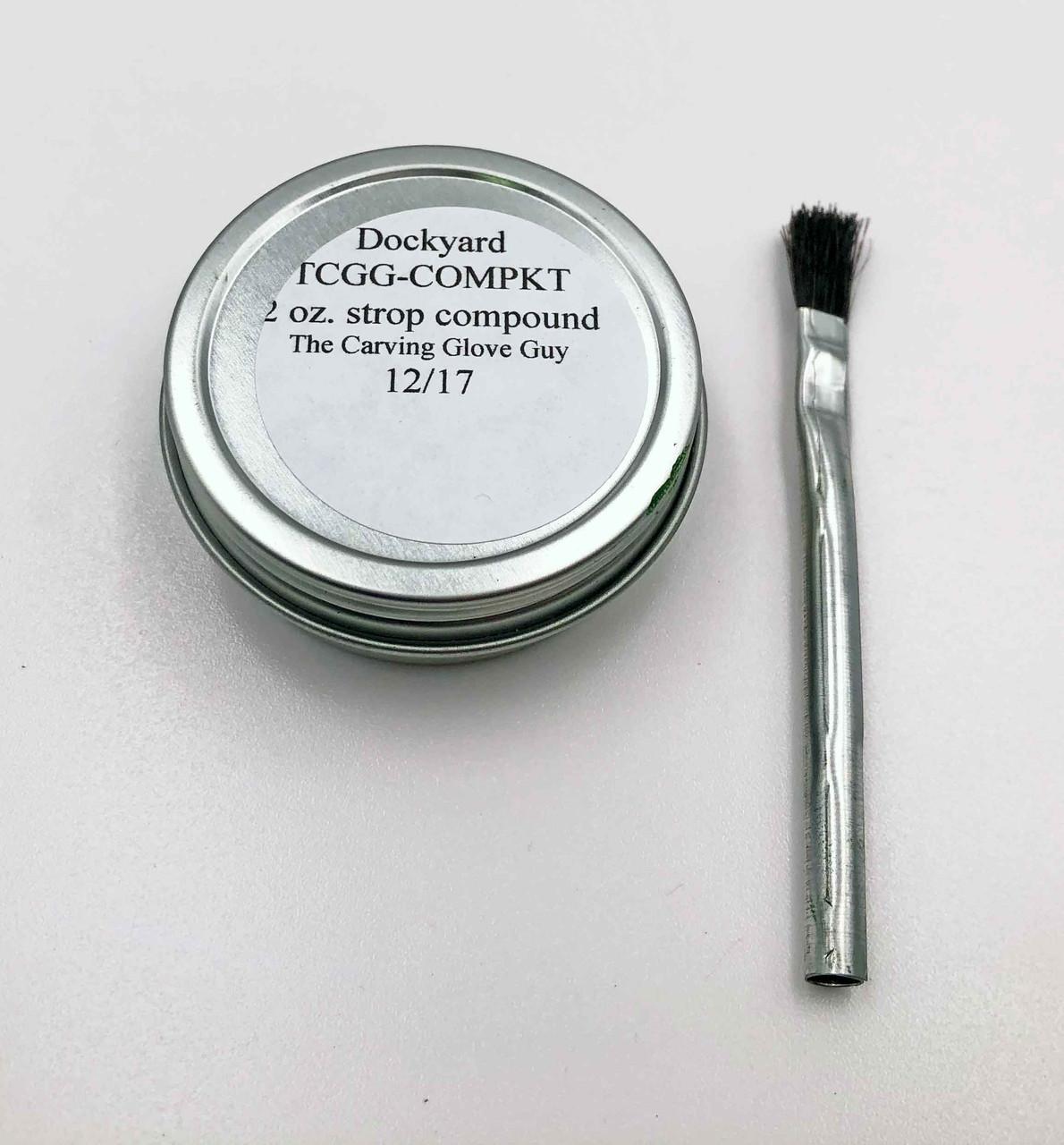 Dockyard tool strop goop and brush.