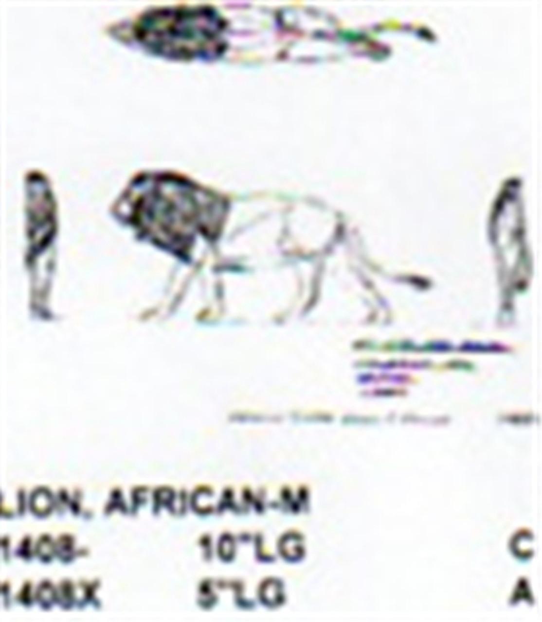 """African Lion Male Walking 10"""" Long"""
