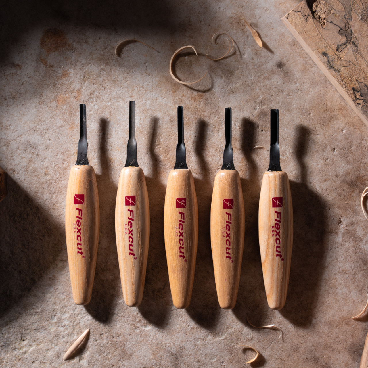 Flexcut 4mm Mixed Profile Micro Tool Set gives you the versatility you need for various tasks