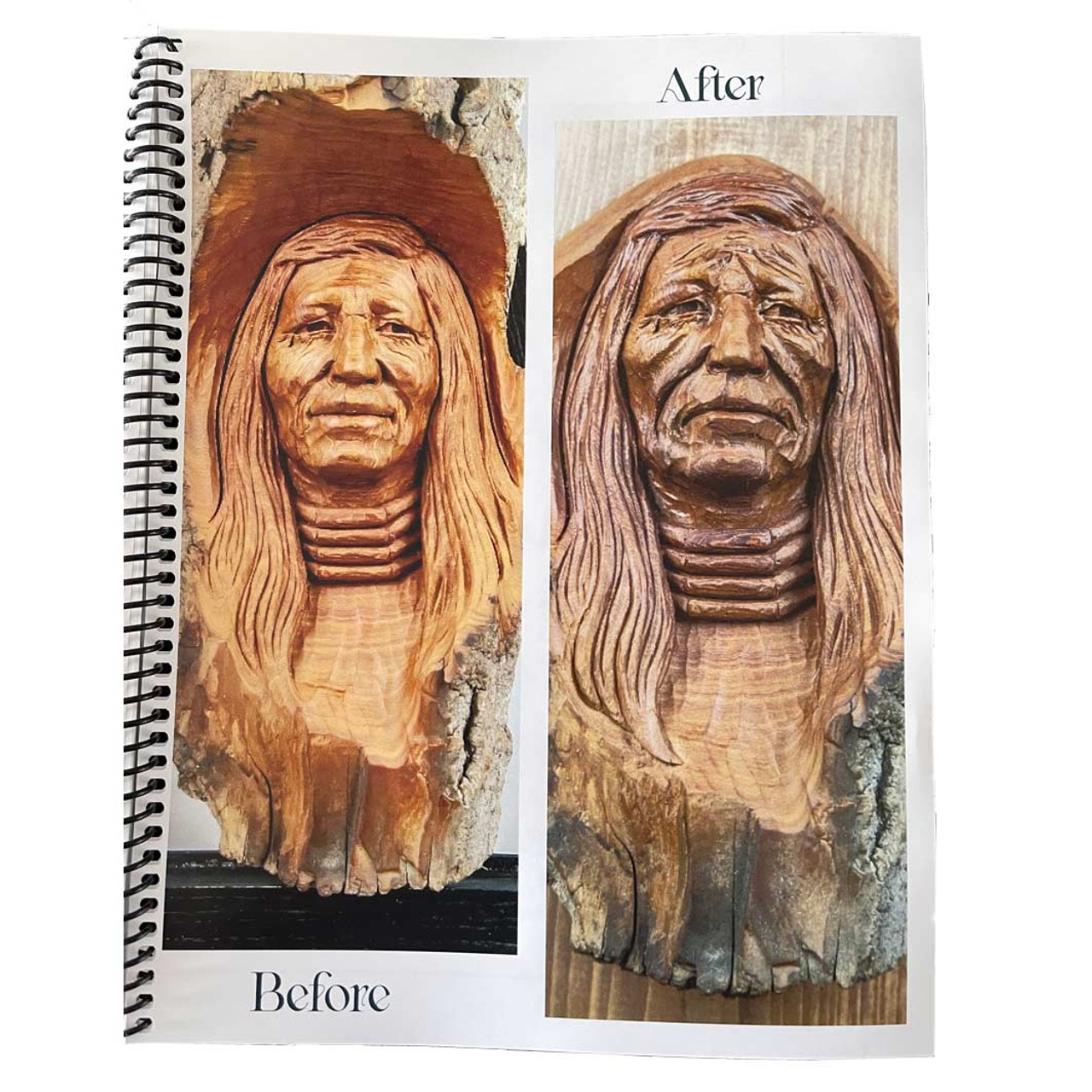 A good woodcarving example vs a great woodcarving.
