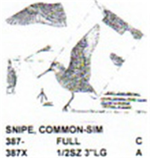 Common Snipe Flying/Landing Carving Pattern showing the two different size Common Snipes you can carve from the Stiller patterns.