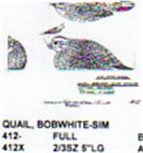 Bobwhite Quail Setting Carving Pattern showing the female Bobwhite Quail in a resting position.