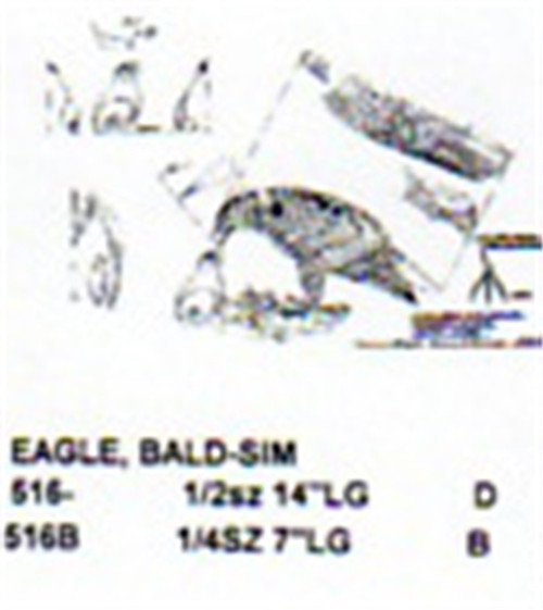 Bald Eagle Standing On Nest Carving Pattern showing an adult Bald Eagle standing on a nest with baby chick.