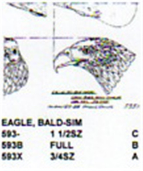 Bald Eagle Head Carving Pattern showing only the head of a Bald Eagle.