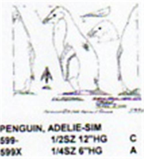Adelie Penguin Standing 1/2 Size