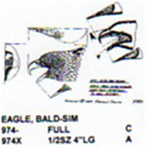 Bald Eagle Head Mouth Open Carving Pattern showing the Head of a Bald Eagle with it's mouth open.