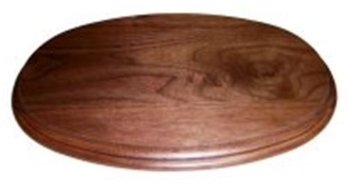 """Walnut base  4""""x6"""" Oval"""