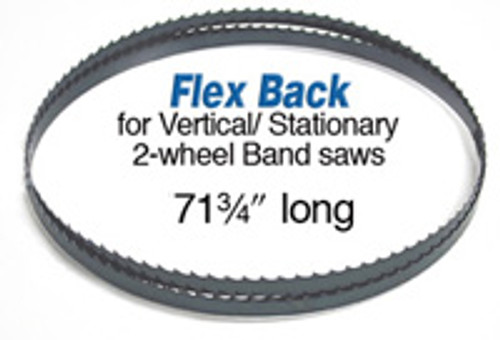 """Olson Band Saw Blade 71 3/4"""" long x .025 thick x 1/4"""" wide with 4 Teeth per inch.  This is a skip tooth band saw blade."""