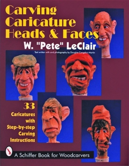 Showing the cover of Carving Caricature Heads & Faces.