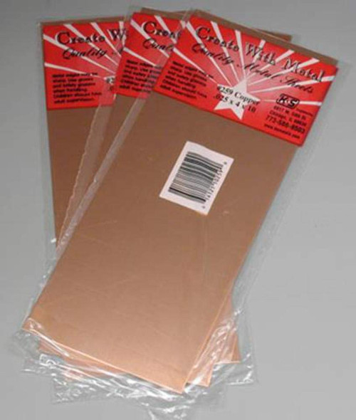 K&S Copper Sheeting in packages