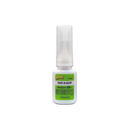 Zap-A-Gap CA+ Medium Viscosity Glue in 1/4 oz bottle.